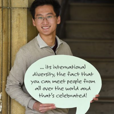 The Best Thing About Trinity Is Its International Diversity, The Fact That You Can Meet People From All Over The World And That's Celebrated